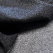 75% OFF Double Sided Charcoal and Grey Wool Jacket Weight Fabric